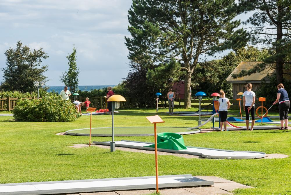 Minigolf am Platz